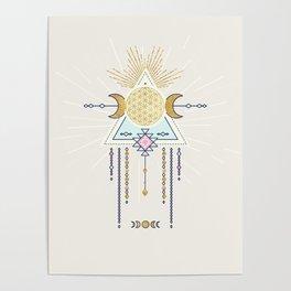 Magical Lunar illustration no4 Poster