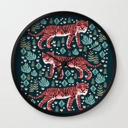 Safari Tiger by Andrea Lauren  Wall Clock
