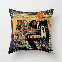 freud Throw Pillows featuring Freud III. by Zsolt Vidak