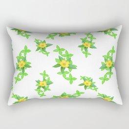 Airy Floral Pattern Rectangular Pillow