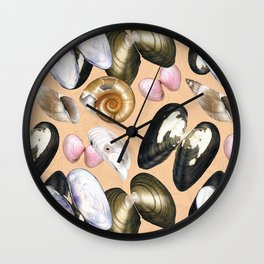 Treasures of the Baltic Sea (beige) Wall Clock