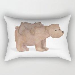 Papa Bear Piggy Back Rectangular Pillow