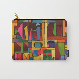 Colors In Collision 1 - Geometric Abstract of Colors that Clash Carry-All Pouch