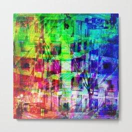 Across the street crossing in a myriad of manners. [RGB] Metal Print