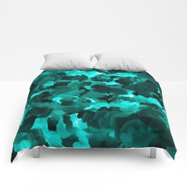 Clear Blue Fluidity Comforters