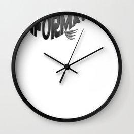 Info Fish Wall Clock