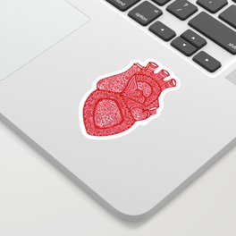 Anatomically Correct Heart Design Sticker