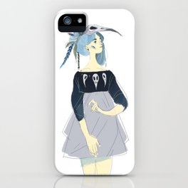 WOLF AND BIRD TWIN PIECES 1 iPhone Case