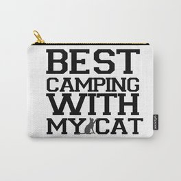 Best Camping with My Cat : Gift to Cat Lovers Carry-All Pouch