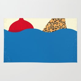 No774 My The Life Aquatic with Steve Zissou minimal movie poster Rug