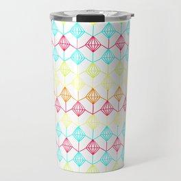 Neon diamonds pattern Travel Mug