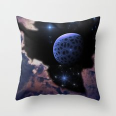 Strange Moon Rising Throw Pillow