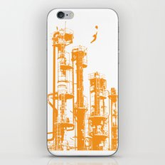 Factory Jump (orange) iPhone & iPod Skin