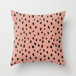 Seeing Spots in Smoked Salmon Throw Pillow