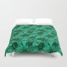 Malachite Swirls in Emerald Garden Duvet Cover