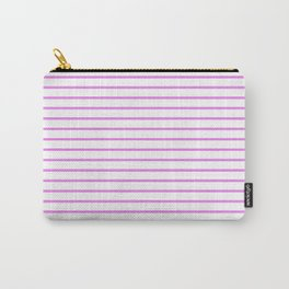 Horizontal Lines (Violet/White) Carry-All Pouch