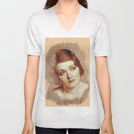 Constance Bennett, Hollywood Legend Unisex V-Neck