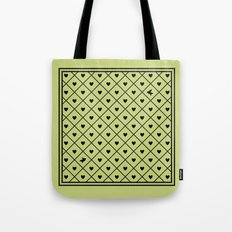 Never Far Away (from the Valentine set) (colors: legally lime) Tote Bag