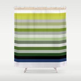 Les lignes de couleurs 02 Shower Curtain
