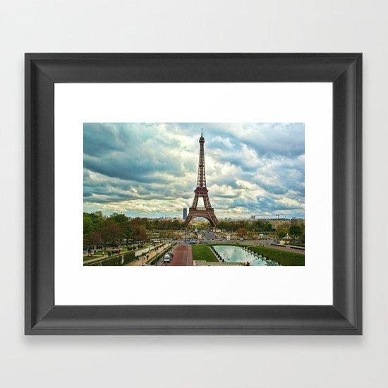 Dramatic Eiffel  Framed Art Print