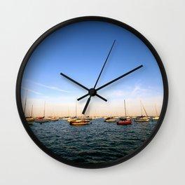 Lake Michigan Sailboats Wall Clock