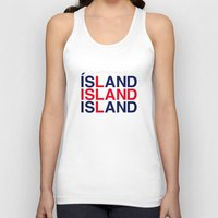 iceland Tank Tops featuring ICELAND by eyesblau