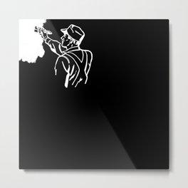 Contractor White Metal Print
