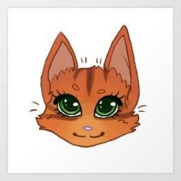 Ginger Kitty Art Print