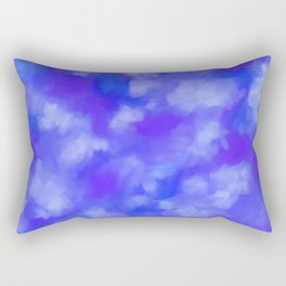 Abstract Clouds - Rich Royal Blue Rectangular Pillow