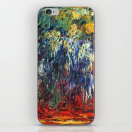 """Claude Monet """"Weeping Willow, Giverny"""", 1922 iPhone Skin"""