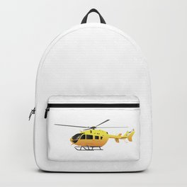 Yellow Modern Helicopter Backpack