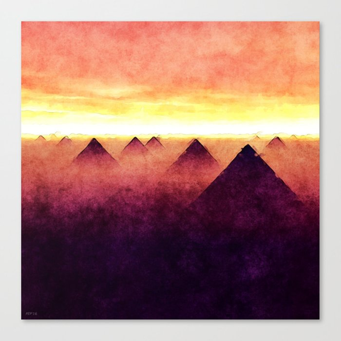 Pyramids At Sunrise Canvas Print