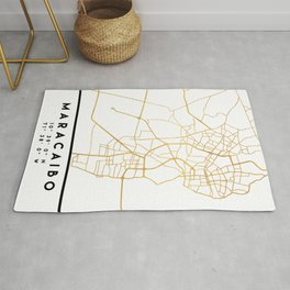 MARACAIBO VENEZUELA CITY STREET MAP ART Rug
