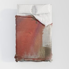 California Sun [2]: a minimal, abstract piece in reds and gold by Alyssa Hamilton Art Duvet Cover