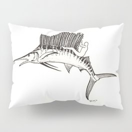 Surfing the fish Pillow Sham