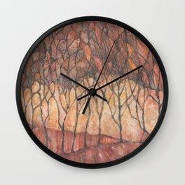 Arboles de otoño (Autumn trees) Wall Clock