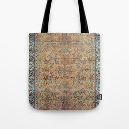 Kashan Floral Persian Carpet Print Tote Bag