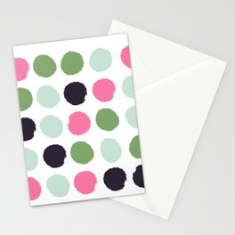 Painted dots minimal colorful pattern polka dots nursery baby decor Stationery Cards