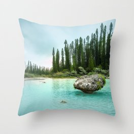 Remote Corner of Paradise at Isle of Pines, New Caledonia. Throw Pillow