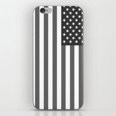 American flag in Gray scale iPhone & iPod Skin