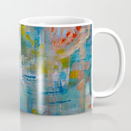Modern Abstract Wall Art, A NEW Look, Blue vivid colors, living room wall art Coffee Mug