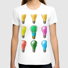 Lightbulbs Of A Differnt Color T-shirt