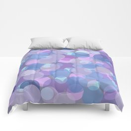 Pastel Pink and Blue Balls Comforters