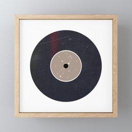 Vinyl Record Star Sign Art | Virgo Framed Mini Art Print