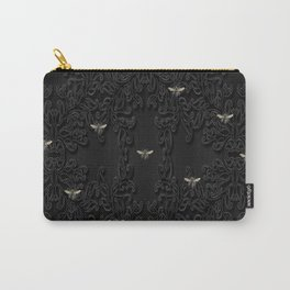 Black Bees and Lace Carry-All Pouch