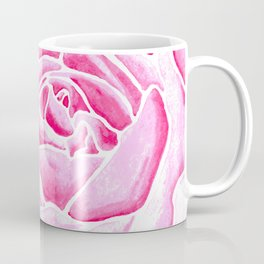 Pink Watercolor Rose Coffee Mug