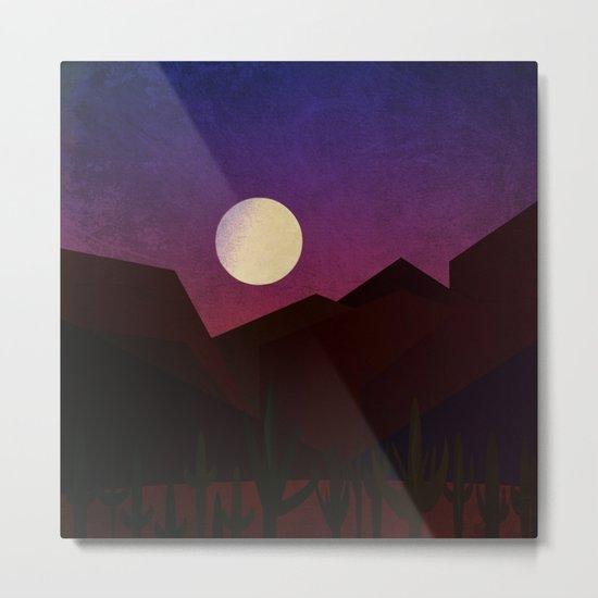 Moon Over The Desert Metal Print