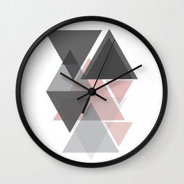 Scandinavian Inspired Pastel Triangles Wall Clock