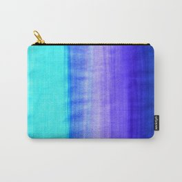 Ocean Horizon - cobalt blue, purple & mint watercolor abstract Carry-All Pouch
