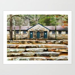 Step at Cheaha State Park Art Print